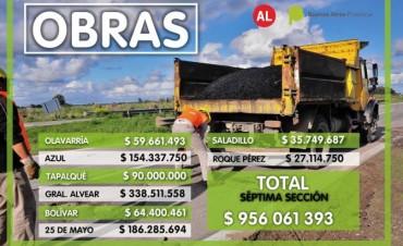 Lordén: la provincia prevé invertir casi 1000 millones de pesos en obras públicas en la Séptima en 2017
