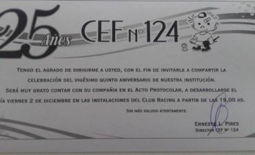 Cumple 25 años el CEF 124