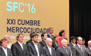 Galli único intendente de la Provincia que participa en la Cumbre de Mercociudades