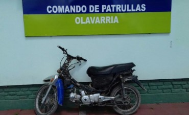 Recuperan una moto