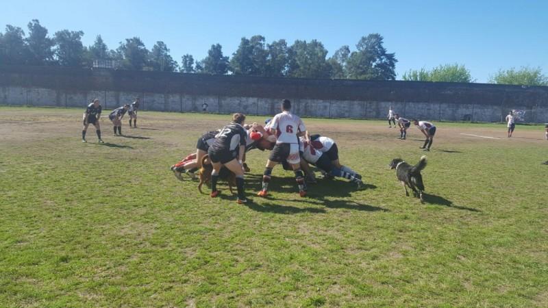 El equipo de Rugby del Club Atlético Estudiantes jugó  con los rugbiers de la Unidad Nº2