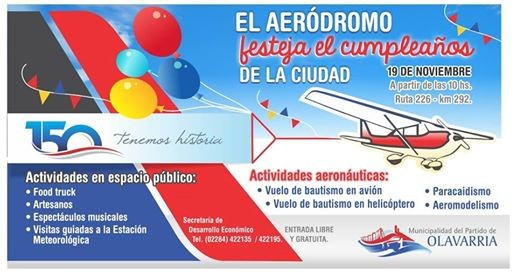 Invitan a participar de las actividades aeronáuticas este fin de semana