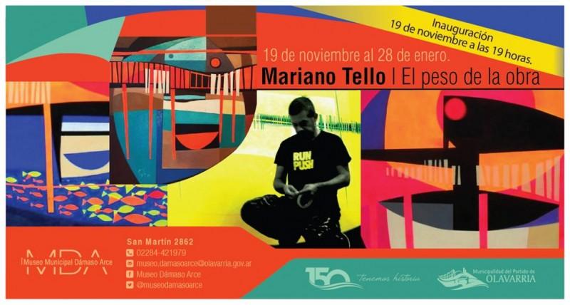 Mariano Tello expondrá en el Museo Dámaso Arce