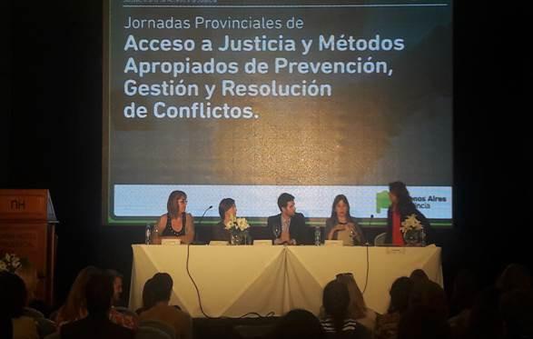 Olavarría en las Jornadas de Acceso a la Justicia y Resolución de Conflictos