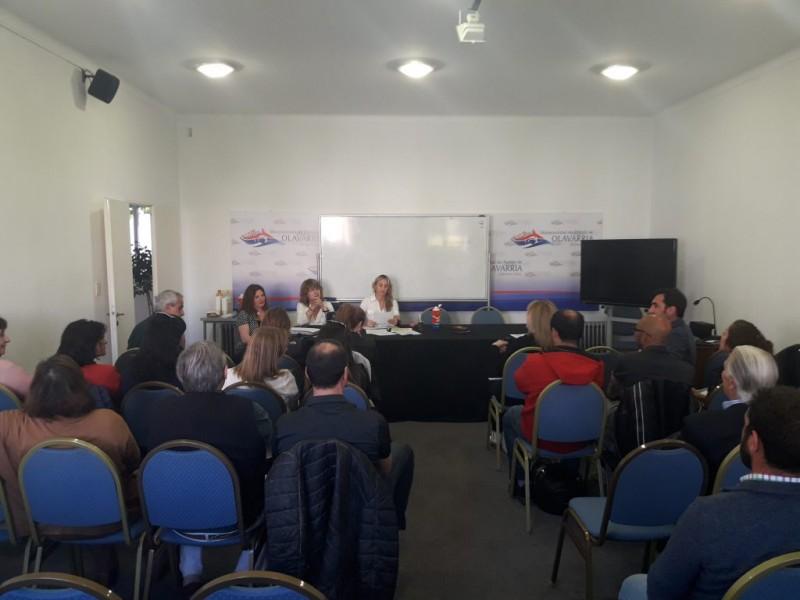 Autoridades municipales en la tercera reunión de COPRET