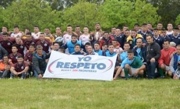 El equipo de rugby de la Unidad 2 en el 7º Seven de rugby en Batán