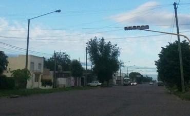 Nuevo semáforo en Alberdi y Dorrego