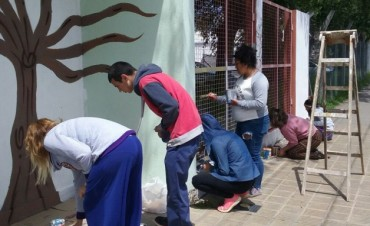 Mural en la Subsecretaría de Derechos, Igualdad y Oportunidades