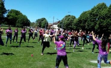 Gimnasia y salud en el Parque Mitre