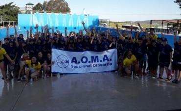 Los 65 chicos de AOMA están en Villa Carlos Paz disfrutando el viaje de estudios