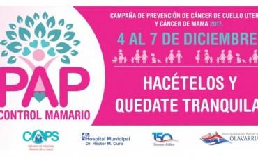 Campaña de prevención del cáncer de cuello de útero y mama