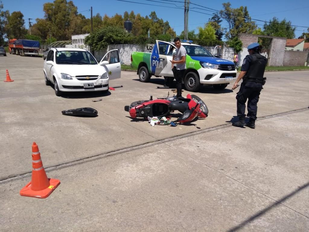 Varios choques moto-auto se produjeron este martes