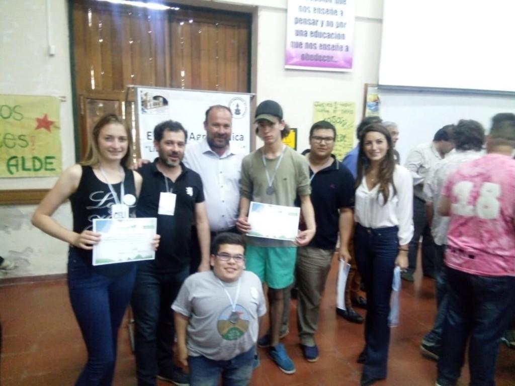 Estudiantes de la Escuela Agraria de Olavarría lograron una mención como Proyecto destacado.
