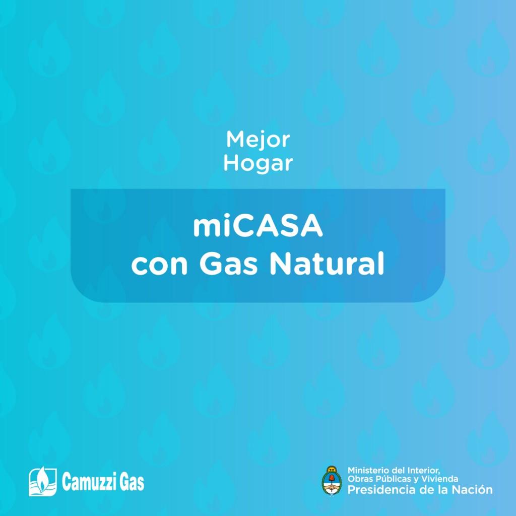 Anuncian microcréditos para quienes no puedan instalarse el gas natural