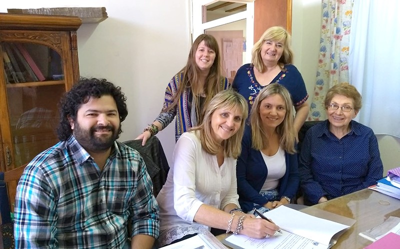 Firma de convenio entre la FACSO y el Instituto de Formación Docente Nº 22