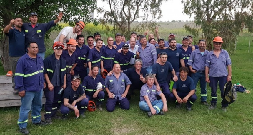 Héctor Laplace se reunió con los trabajadores de Minerar