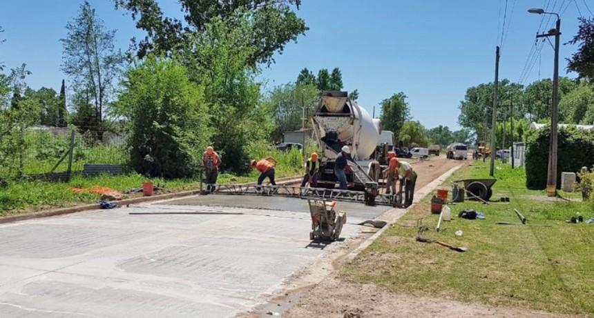 La pavimentación en el barrio Eucaliptus alcanzó un 60% de avance