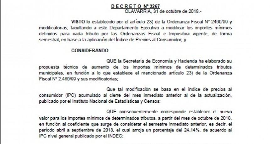 El intendente Galli aumentó las tasas por decreto