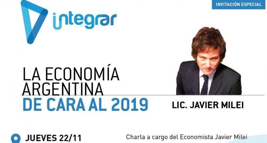 El economista Javier Milei llega a Olavarría este jueves