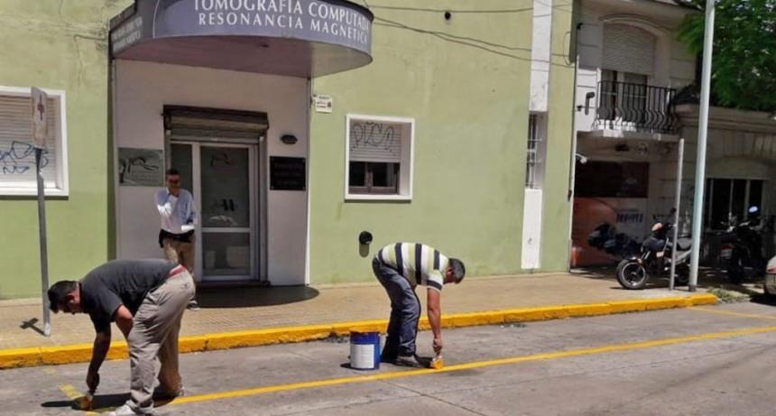El Municipio continúa con los trabajos de demarcación vial
