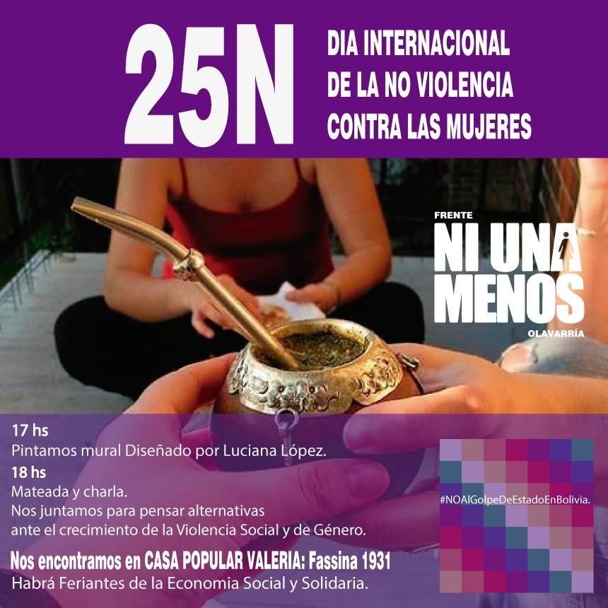 Hay actividades por el Día Internacional De La No Violencia Contra Las Mujeres