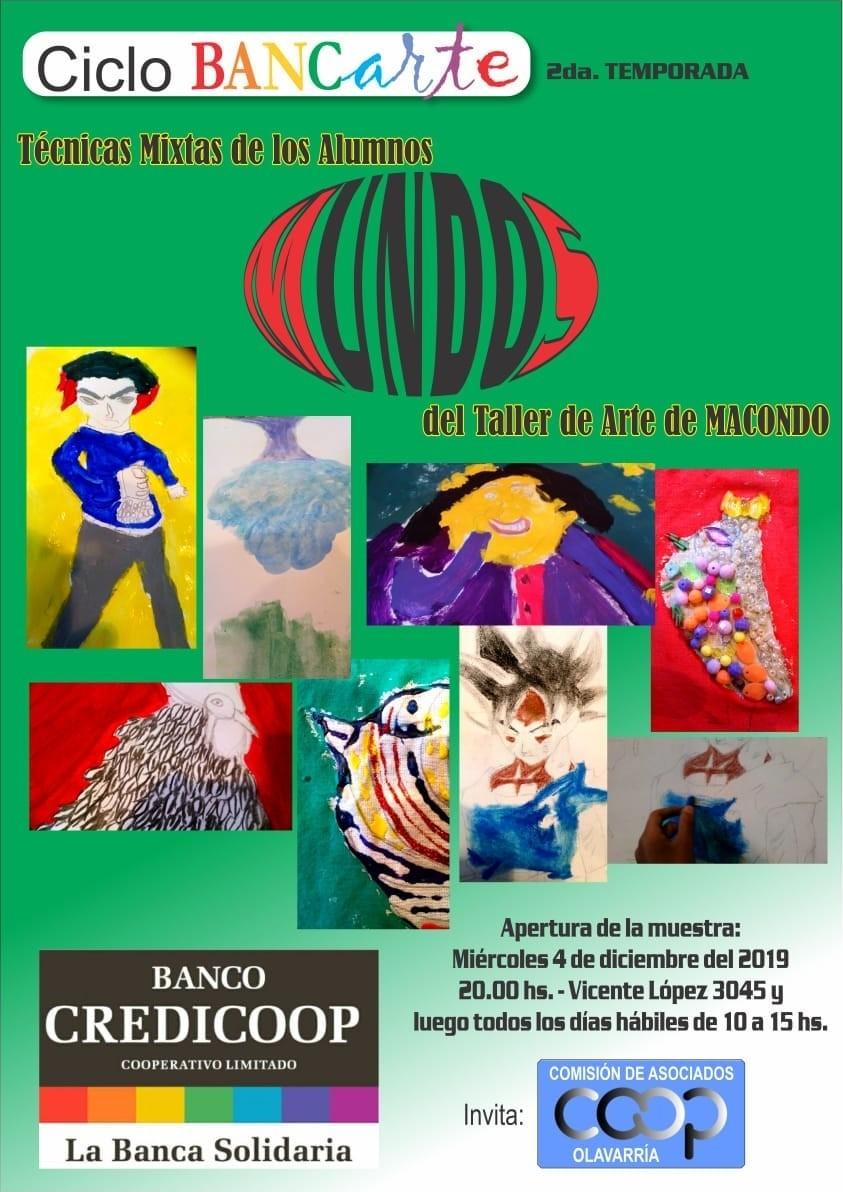 Exponen trabajos del taller de arte de Macondo
