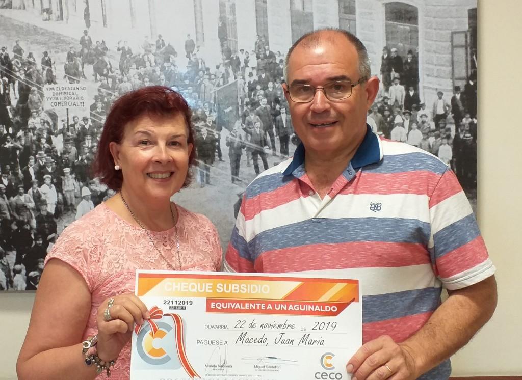 Ganadores de aguinaldos en el CECO