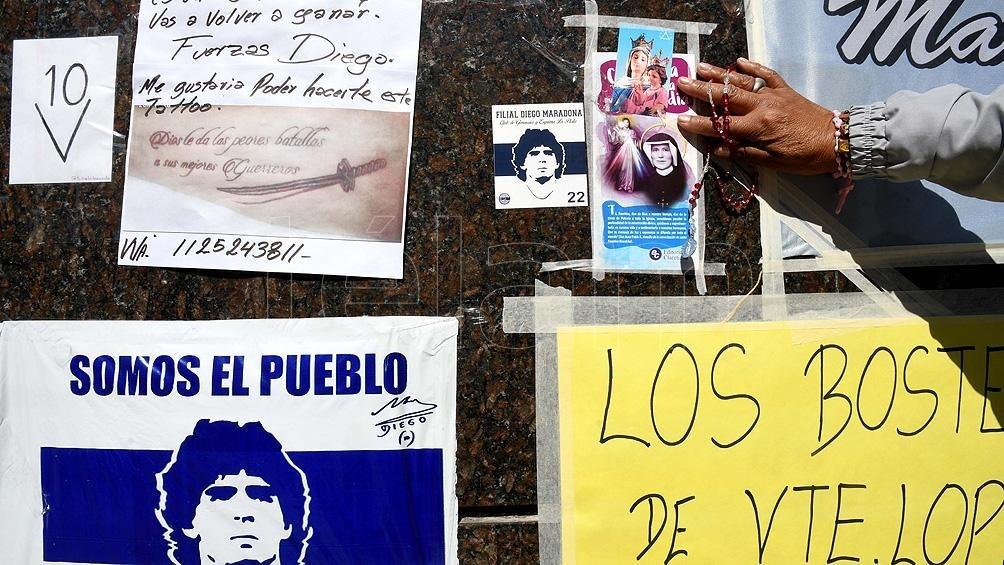Maradona tuvo episodios de confusión y seguirá internado