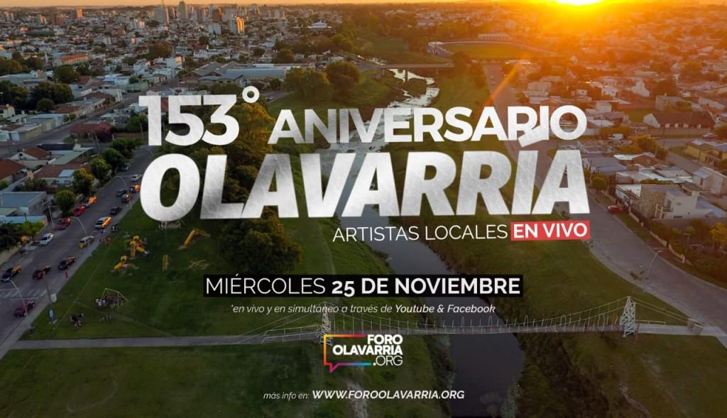 El Foro Olavarría presenta un 'Vivo' para el aniversario 153 de la ciudad