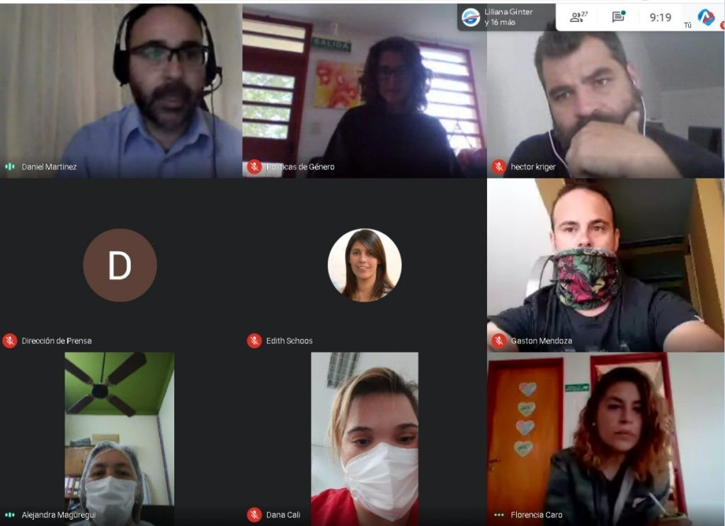Encuentro virtual de la capacitación sobre la Ley Micaela