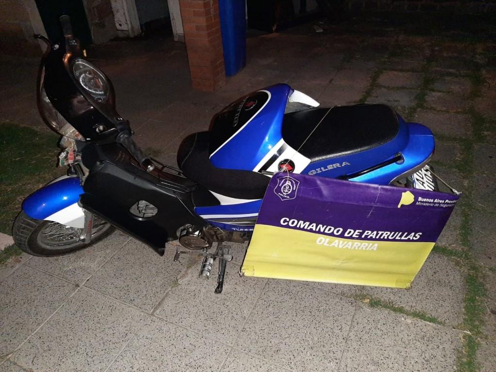 Policía halló moto que había sido robada