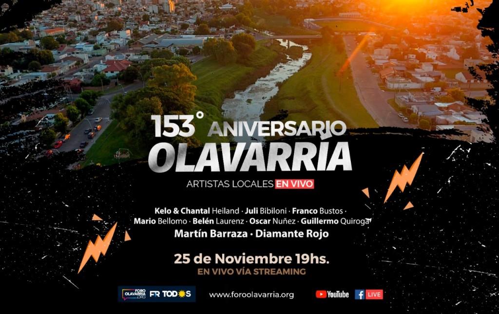 Vivo Aniversario de Olavarría por las redes del Foro Olavarría