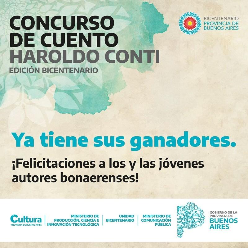 El Concurso de Cuento Haroldo Conti Edición Bicentenario ya tiene sus ganadores