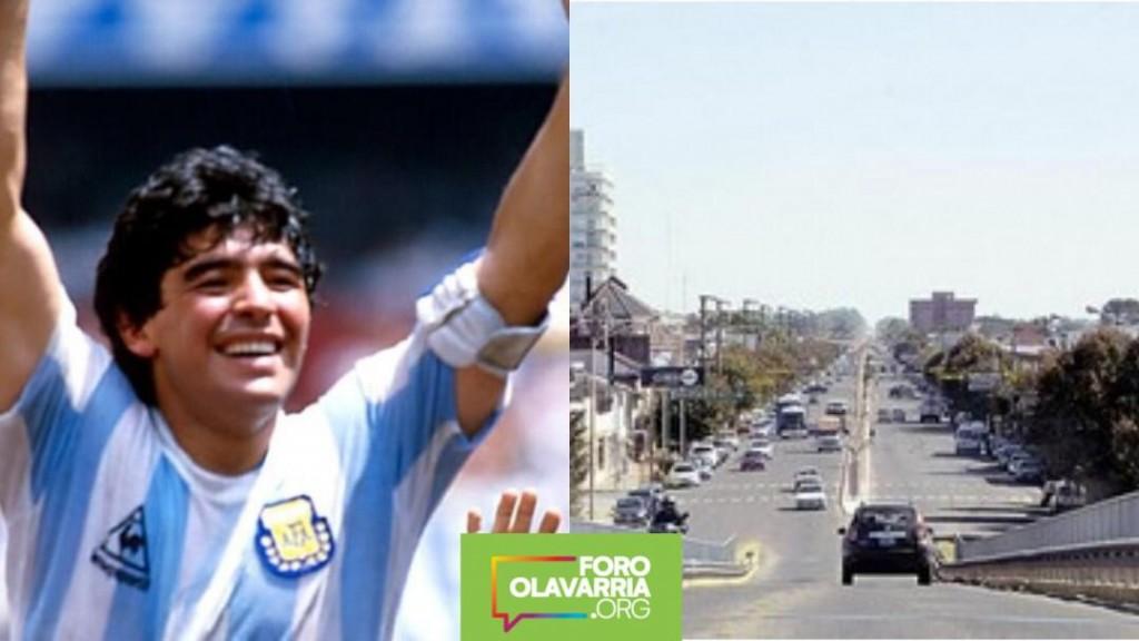 Foro Olavarría encuesta sobre nominar Diego Maradona a un puente
