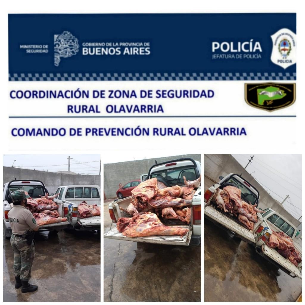 Luego de dos abigeatos, secuestraron más de una tonelada de carne sin sellos