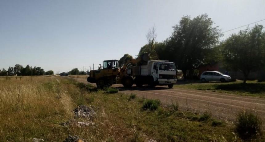 El Municipio realiza tareas de limpieza y mantenimiento de calles