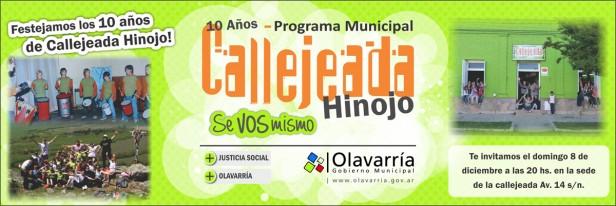 Callejeada Hinojo celebra 10 años desde su creación