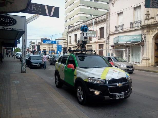 Puede verse el móvil de Google Street View en Olavarría