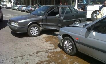 Choque en el centro Olavarriense