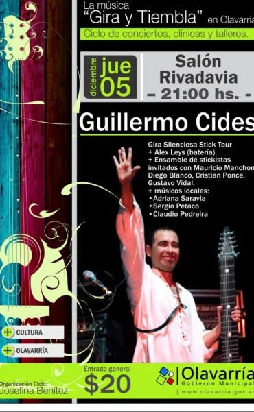 """El stickista olavarriense Guillermo Cides inaugura """"Gira y Tiembla"""" en verano"""