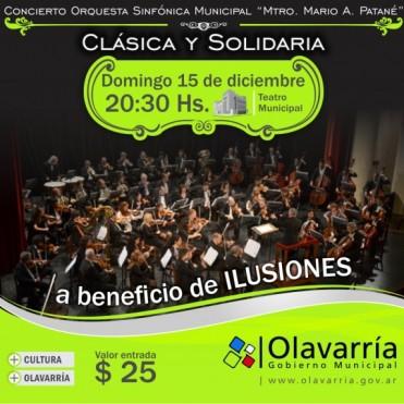 """Ilusiones será la institución beneficiada con el último concierto del año de """"Clásica y Solidaria"""""""