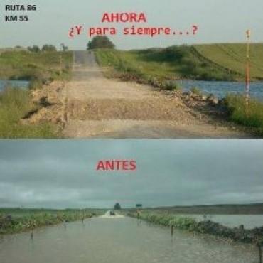 """Ruta 86: """"El entoscado no es ideal para una ruta provincial"""""""