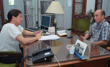 Margarita Arregui se reunió con el Presidente del Concejo Deliberante