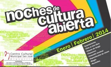 """Este sábado comienzan las """"Noches de Cultura Abierta"""" en el Centro Cultural Municipal """"San José"""""""