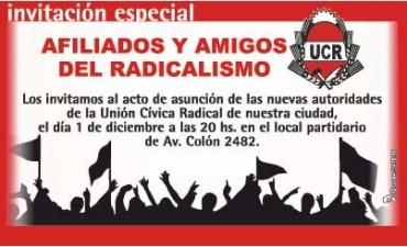 Este lunes asume la nueva comisión de la UCR de Olavarria