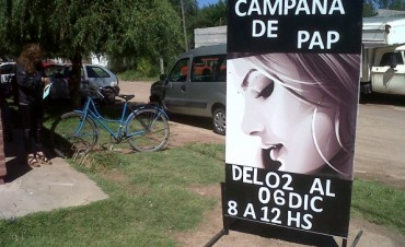 Comenzó la campaña del pap Dra. Aguerre