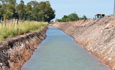 Avanza la construcción de un nuevo canal en el sur de la ciudad