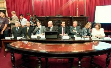 El Senador Héctor Vitale y el Presidente de la Suprema Corte de Justicia Daniel Soria presidieron una reunión en el Senado