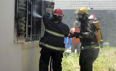 Incendio en una vivienda