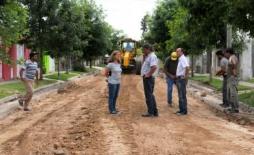 Avanza la pavimentación en Coronel Dorrego mientras continúa la construcción del Servicio Territorial Municipal Nº 2
